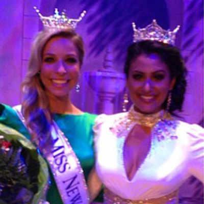 Miss New York 2014 Kira Kazantsev with Miss America 2013 Nina Davuluri