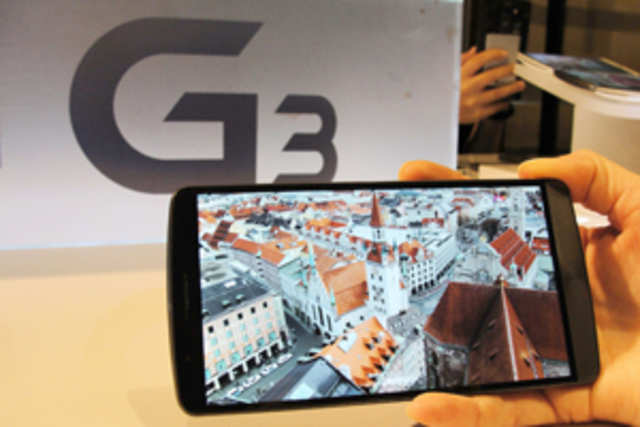LG G3 has the highest resolution screen in a flagship phone so far, beating devices like GalaxyS5andXperiaZ2that have Full HD displays.