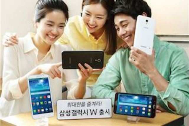 Samsung has launched, Galaxy W, a smartphone with a 7-inch display in the South Korean market.