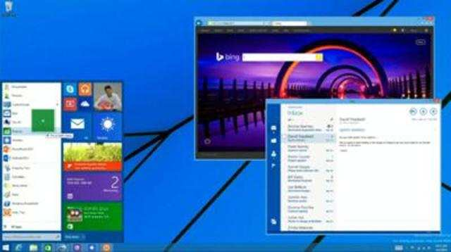 The Start Menu will not arrive until Threshold, the next 'major' release of Windows which is expected to release in April 2015.