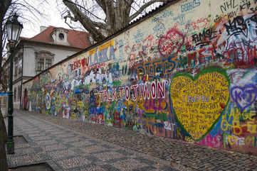 Peek into history at the Lennon wall