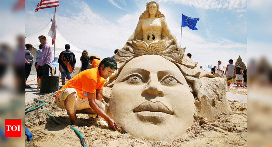 Indian Artist Wins Award At Sand Sculpting World Cup India News Times Of India