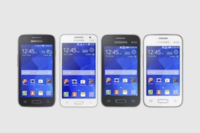 All of the four phones feature Samsung'sTouchWizEssence user interface, and come with the latest version of Android.