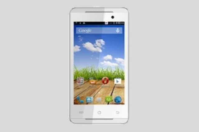 The dual-sim phone sports a 4-inch WVGA(480x800p) display.