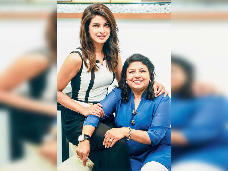 Priyanka Chopra poses with her mother on her birthday in Mumbai's  Studio Aesthetique Cosmetic Day-Care Centre