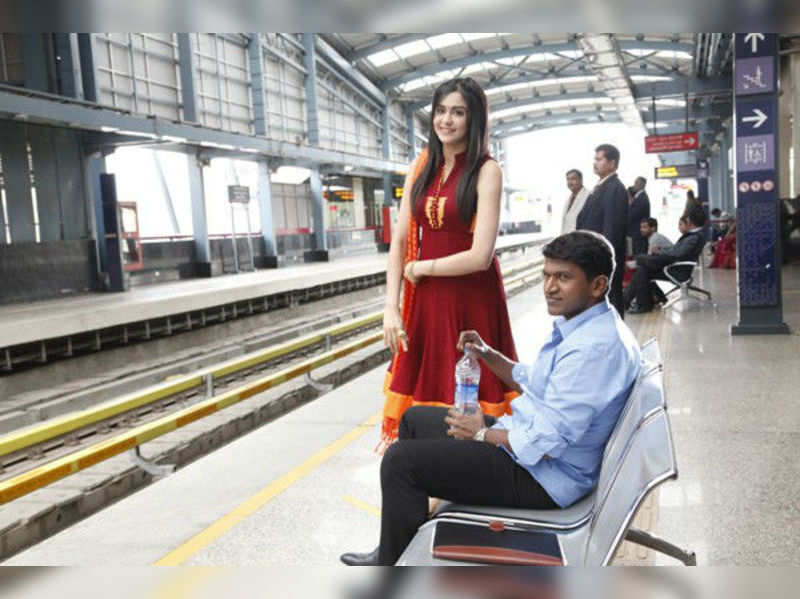 Puneeth Rajkumar, Adah Sharma shoot at MG Road Metro Station, Bangalore