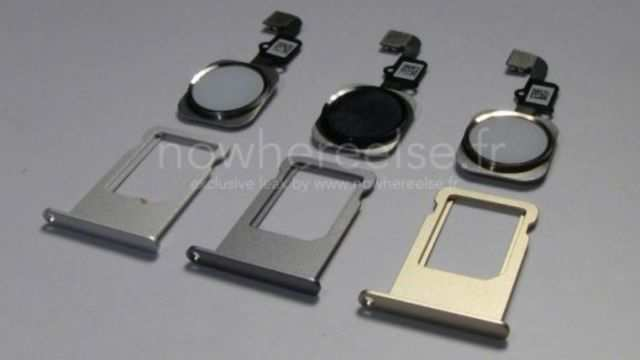 Expect three different iPhone 6 colours to be available at launch, if these leaked SIM trays are to go by.