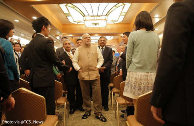 Prime minister Narendra Modi today inaugurated TCS Japan Technology and Culture Academy.