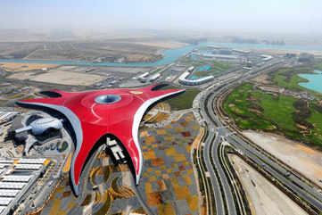 Ride on the world's largest roller coaster at Ferrari World