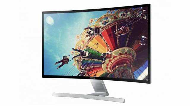 Samsung reckons that its 27-inch, full-HD monitor is easier on the eyes than traditional panels because its curved shape lets you see the edges of the screen more easily than if it was flat.