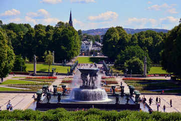 Frogner Park, and the aesthetic Vigeland installation