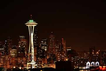 Space Needle and the Seattle skyline