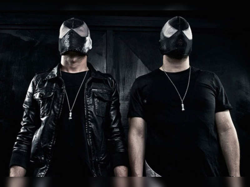 Italian electro house duo The Bloody Beetroots at concert in Mumbai tonight