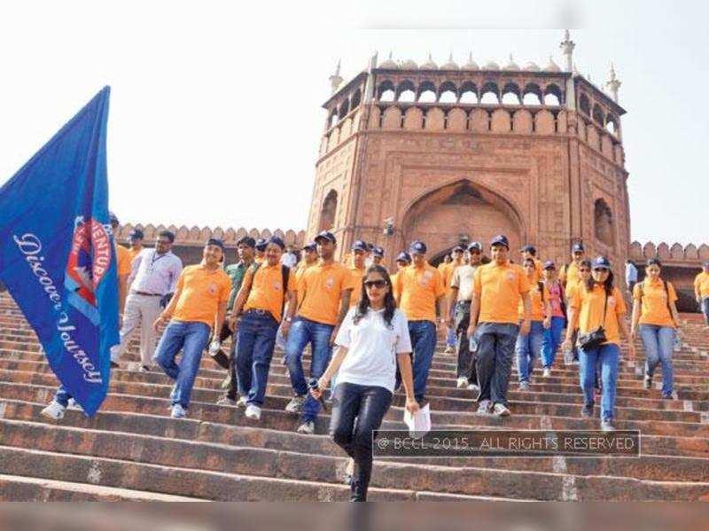 DMRC enjoy World Heritage Day in Chandni Chowk
