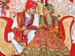 A gala wedding ceremony