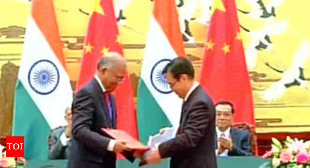 List Of 24 Agreements Signed Between India And China India News