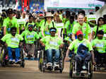Differently abled participants take part in the 10k MarathonPhotogallery - Times of India
