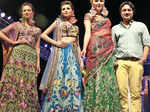 Rajdeep Ranawat poses with models during a fashion show Photogallery - Times of India