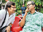 Shantilal Mukherjee and Chandan Sen during an event Photogallery - Times of India