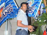 Kieron Pollard arrives at a party celebrating Mumbai Indians' IPL 8 win Photogallery - Times of India