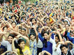 Participants attend the Zumba session