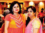 Ria (L) and Mamta during a musical night
