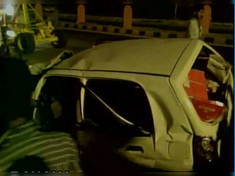 The Alto that collided with Hena Malini's car. (Photo: ANI/Twitter)