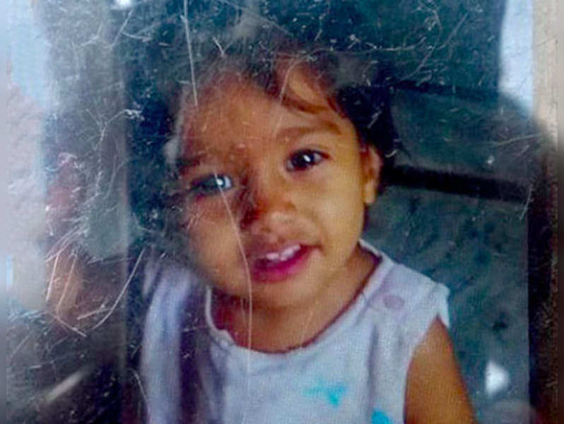 2-yr-old Chinni who was killed in the road accident involving Hema Malini's car. (Photo courtsey: Twitter)