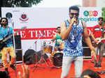 City-based band, Hamsa, performs during the Raahgiri Day