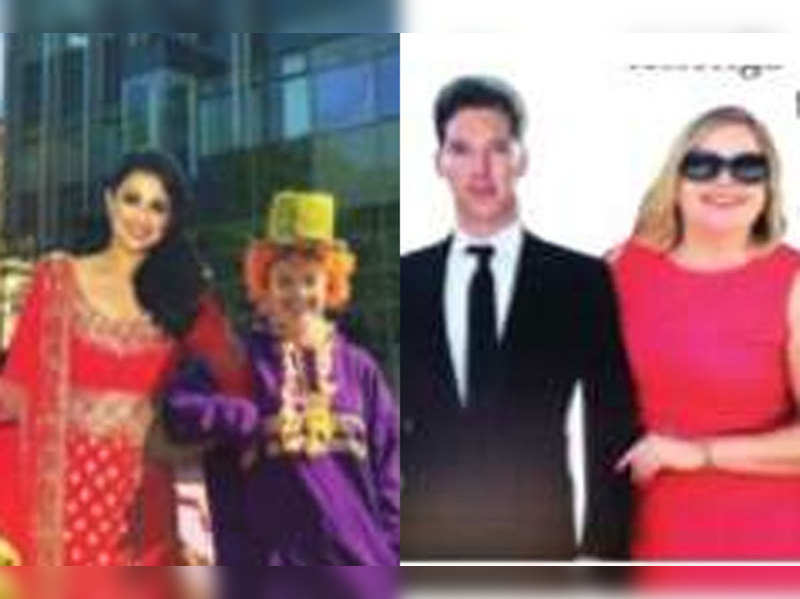 Parineeti and Benedict's cut outs