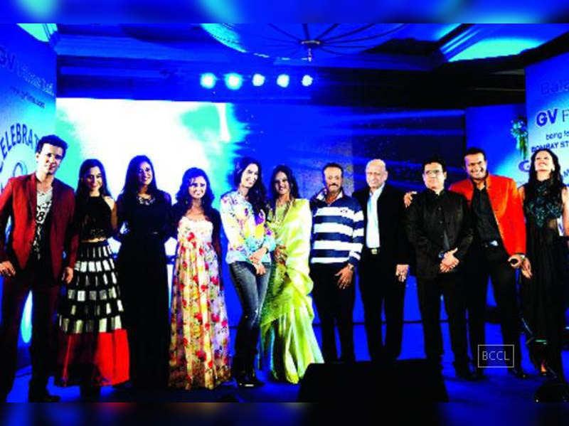 Mallika Sherawat attends GV Films Limited (GVFL)'s silver anniversary bash in Mumbai