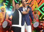 Devi Sri Prasad and Sonu Sood perform at the Micromax South