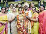 Celebs pose with newlyweds Shanthanu Bhagyaraj and Keerthi