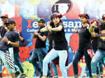 Students perform during the freshers party
