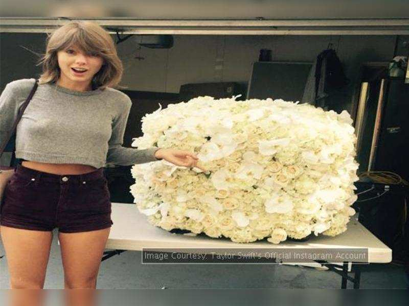 Taylor Swift Instagram Kanye West Sends Taylor Swift The Coolest Flowers English Movie News Times Of India