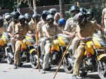 Policemen deployed in Delhi