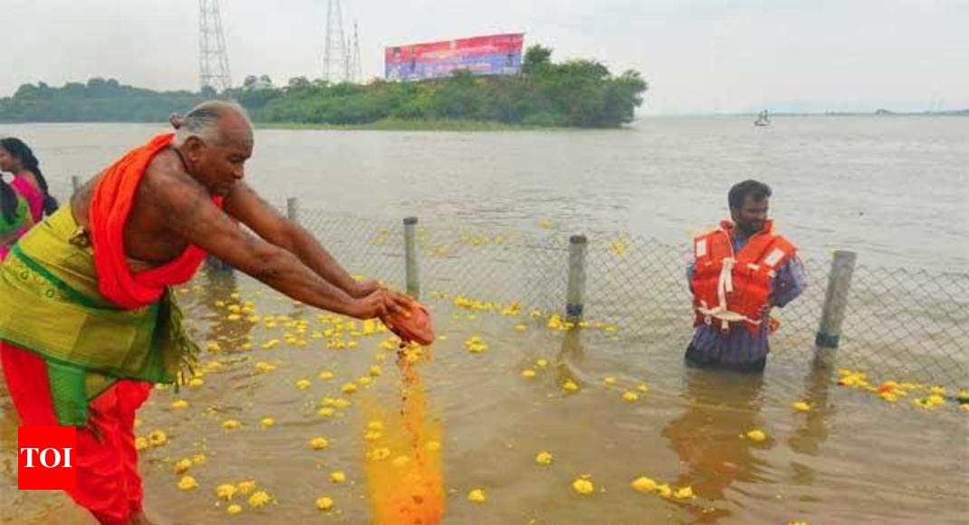 Krishna meets Godavari in first river linkage - Times of India