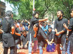 Students from Sri Guru Tegh Bahadur Khalsa College's dramatics society,