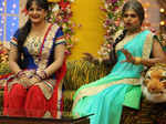 Upasna Singh and Siddharth Sagar on the sets