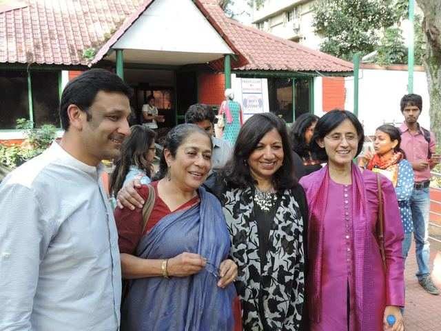 Abhishek Poddar, businessman & art collector; Arundhati Nag, theatre artist; Kiran Mazumdar-Shaw, CMD of Biocon; and Vinita Bali, former CEO of Britannia.   	   	Industries in Bengaluru at the launch of the IFA initiative