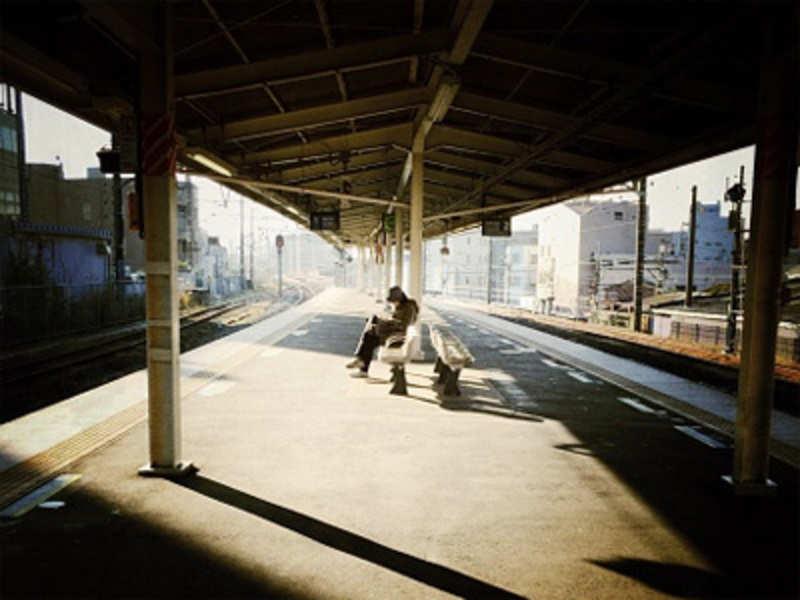 A stranger on the platform