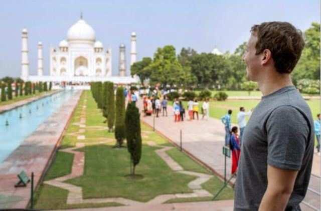 Facebook CEO Mark Zuckerberg, who is in India, made an unannounced trip to Agra on Tuesday. (PTI)