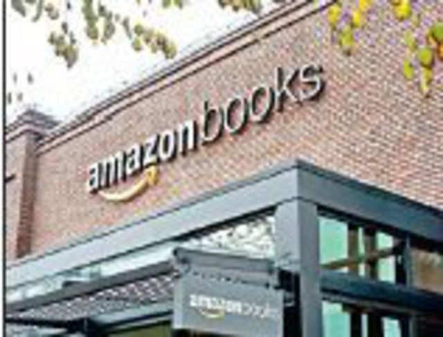 The Amazon bookstore in Seattle, Washington.