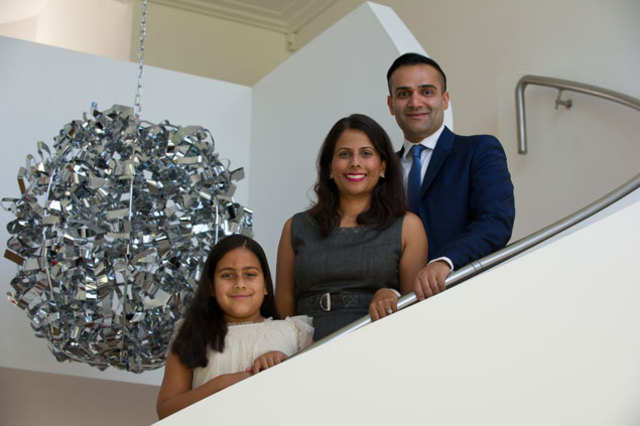 Home run: The UK-based Hothi family own a much-talked about swanky four-bedroom house in Windsor.