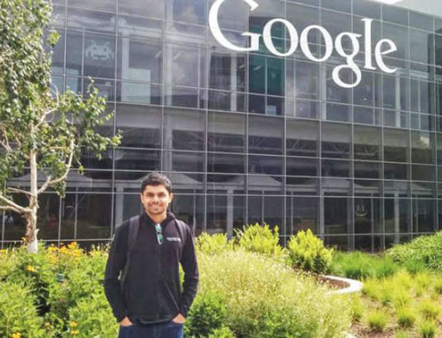 Abhishek Pant completed a three-month internship at the technology giant in California earlier this year.