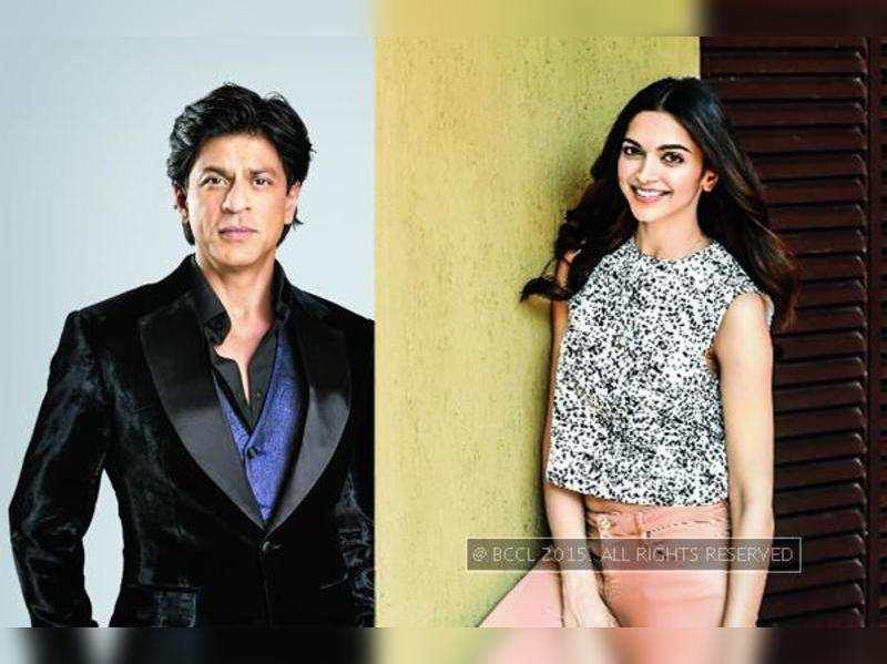 Shah Rukh Khan (L), Deepika Padukone