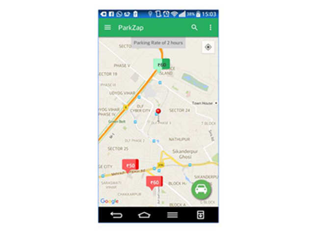 Parkzap is an app that shows users available slots nearby and comparative rates at different parking lots.