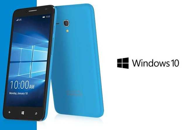 Alcatel One Touch introduced its new Windows 10 smartphone Fierce XL at CES 2016.