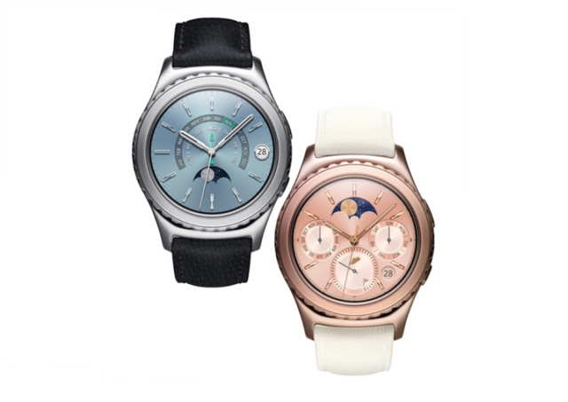 Samsung has unveiled two new premium variants of its Gear S2 Classic encased in 18K Rose Gold and Platinum
