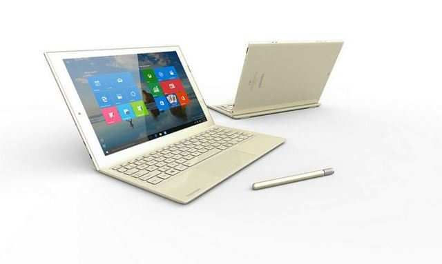 The tablet comes with a full-size keyboard with a 19mm pitch and 1.5mm stroke and can be converte into a laptop. It also comes with a stylus called TruPen that attaches to the side of the tablet.